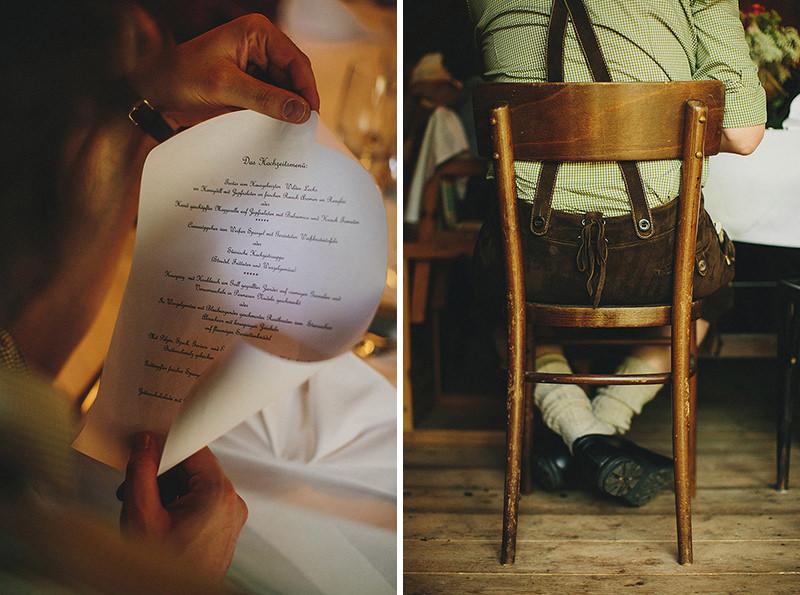Austria wedding menu