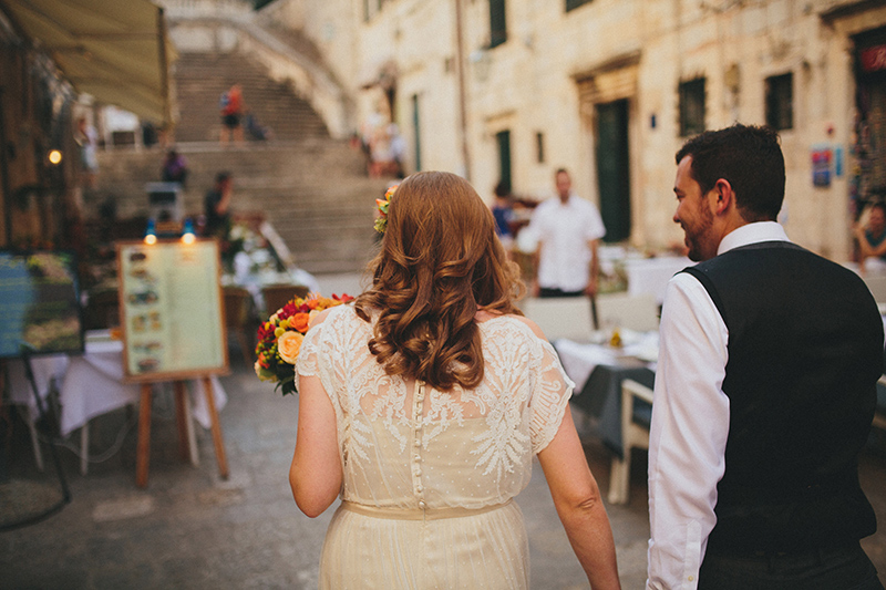 Dubrovnik bride and groom