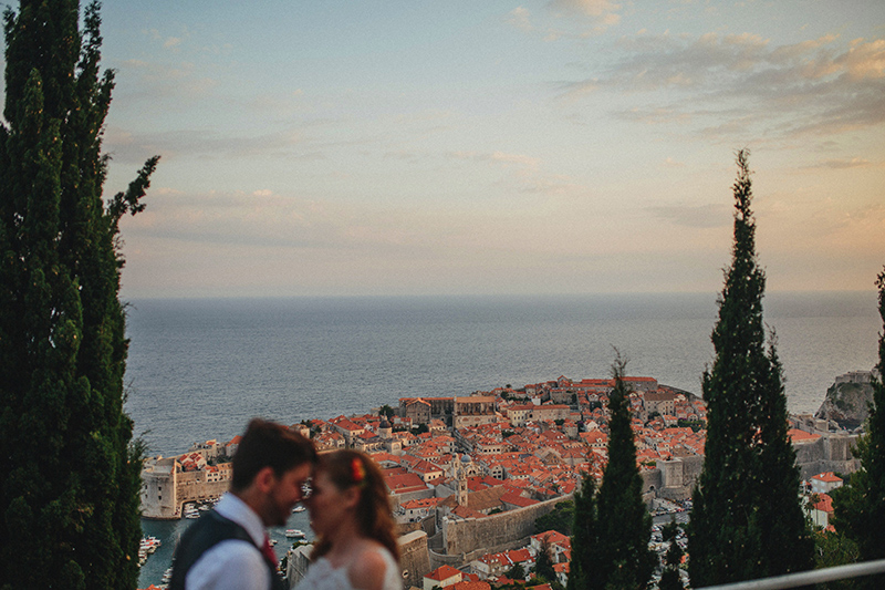 Dubrovnik view wedding