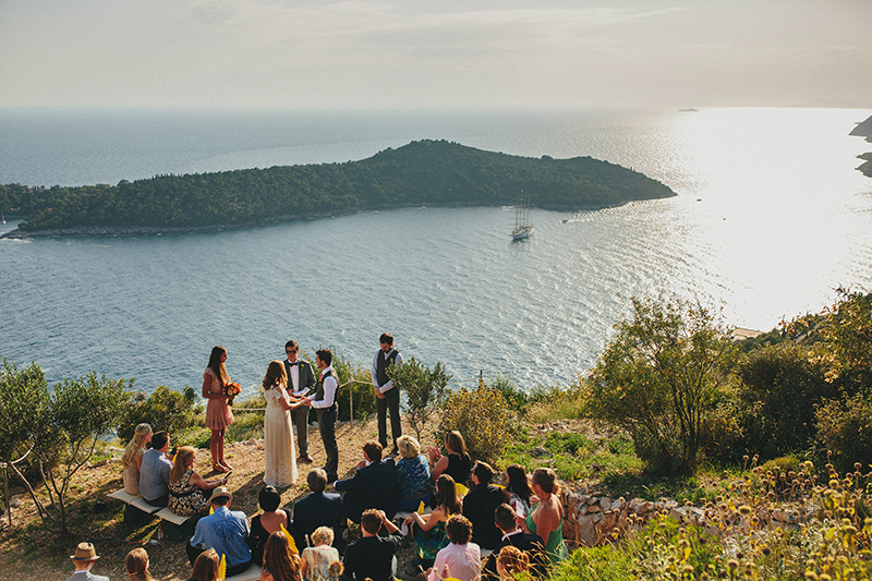 Park Orsula Dubrovnik wedding ceremony