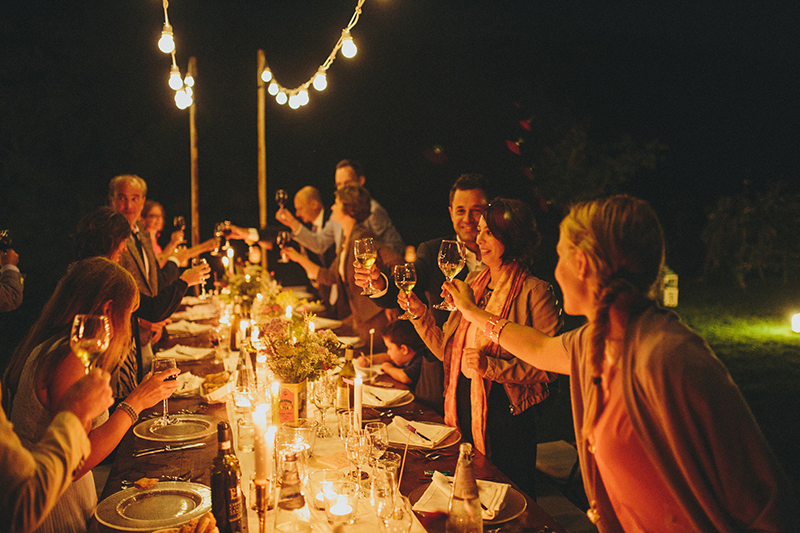 Villa Banditaccia wedding dinner08