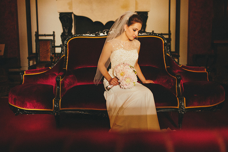 bride wedding Saint James Paris Hotel