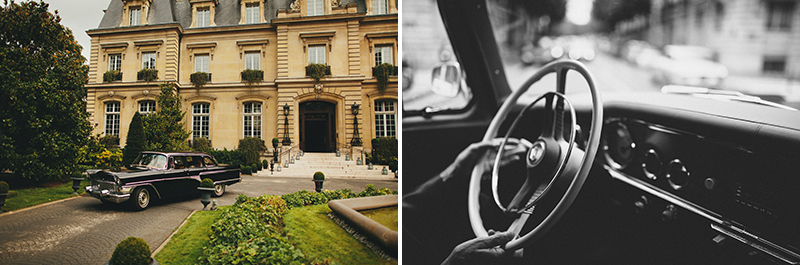 Paris wedding rent a old car