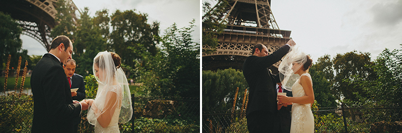 eiffel tower wedding paris