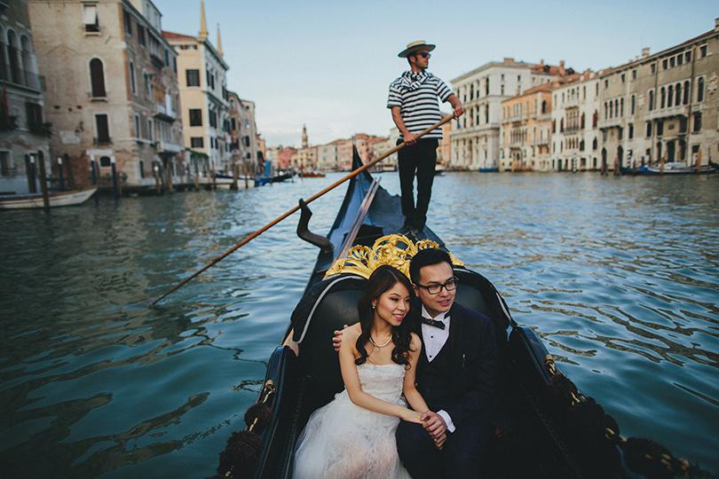 venice grand canal wedding