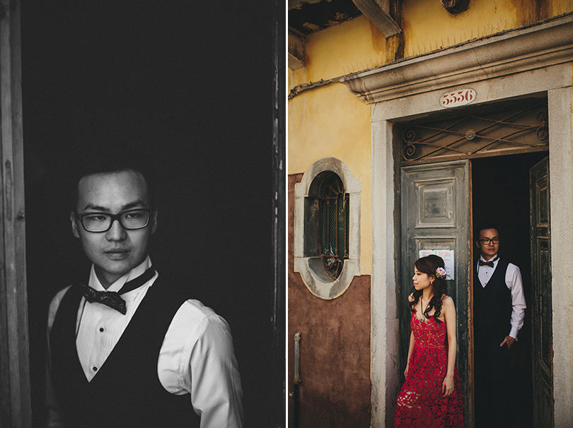 Venice groom bride portraits