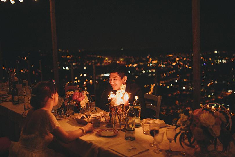 dinner wedding La Candola