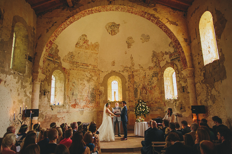 Château de Queille church wedding