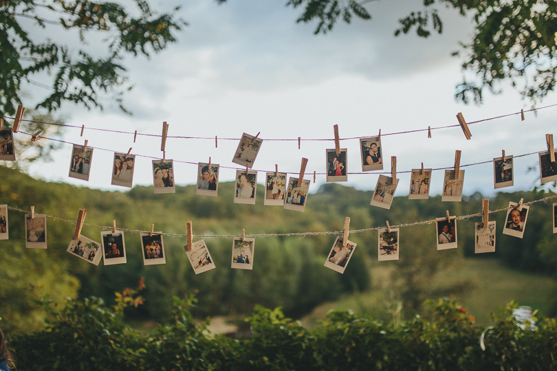 diy wedding polaroid photo booth