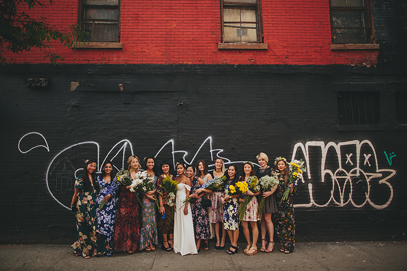 bridesmaids street new york wedding