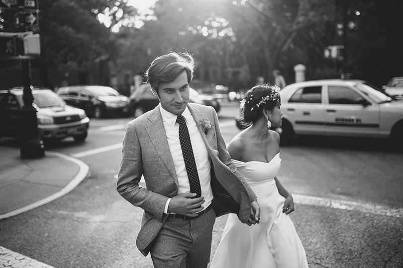 new york street wedding photographer