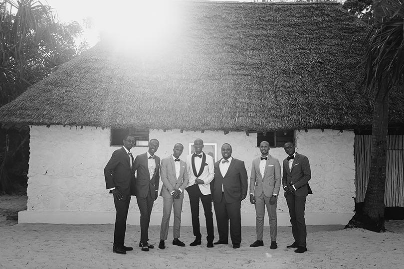 groomsmen zanzibar beach wedding