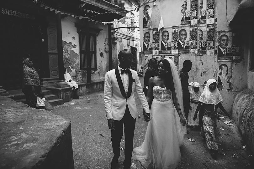 Stone city Zanzibar bride groom