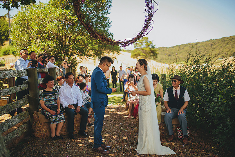 ceremony at boutique barn