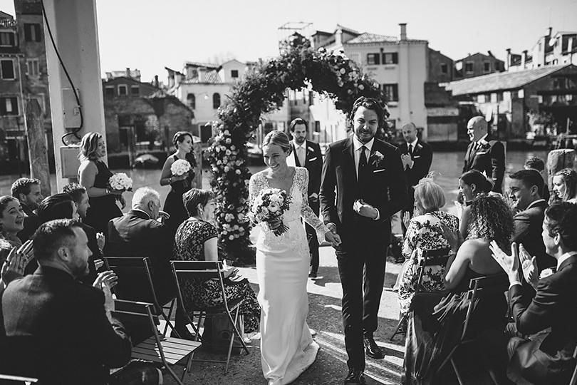 wedding in venice bride groom