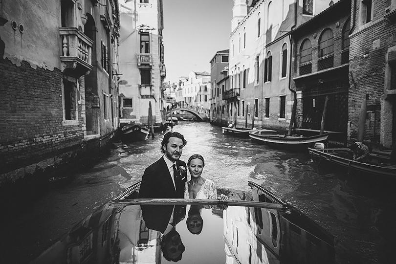 venice wedding boat