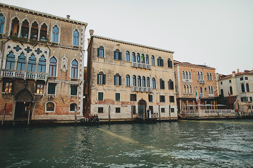 Venice canal wedding photos