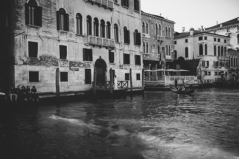 venice wedding in canal
