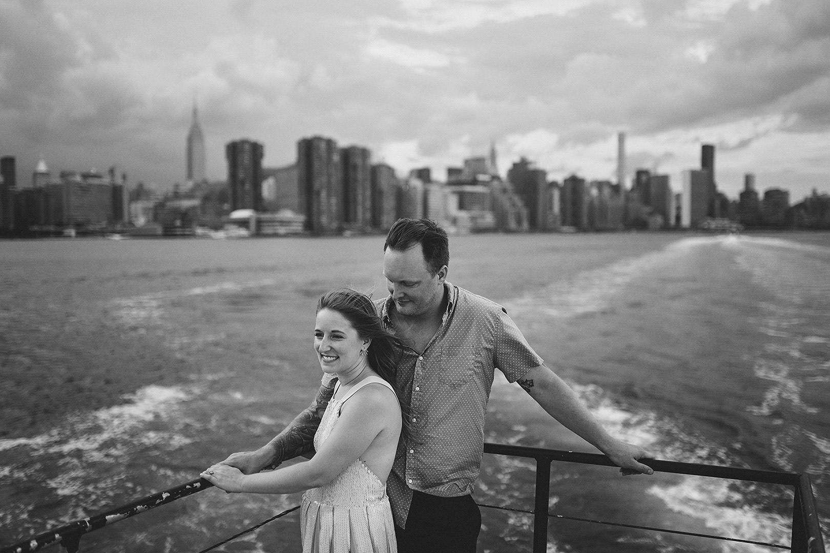 new york city boat engagement session